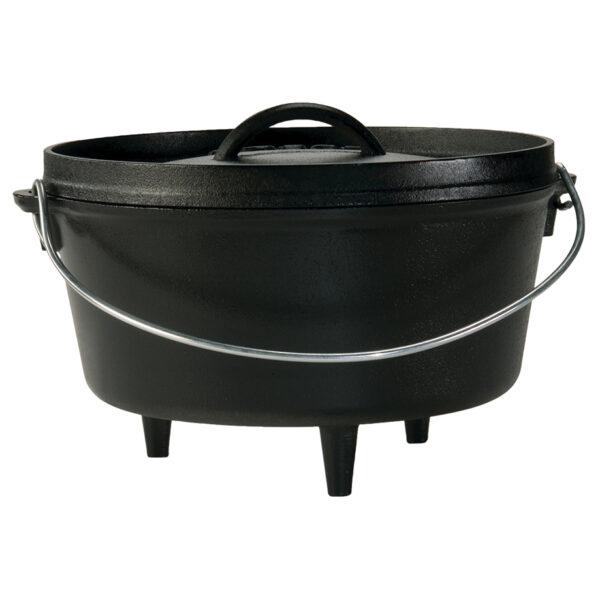 Lodge 4.73 Liter Bål gryde med låg (Dutch Oven)